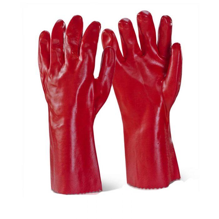 PVC Gauntlet Red