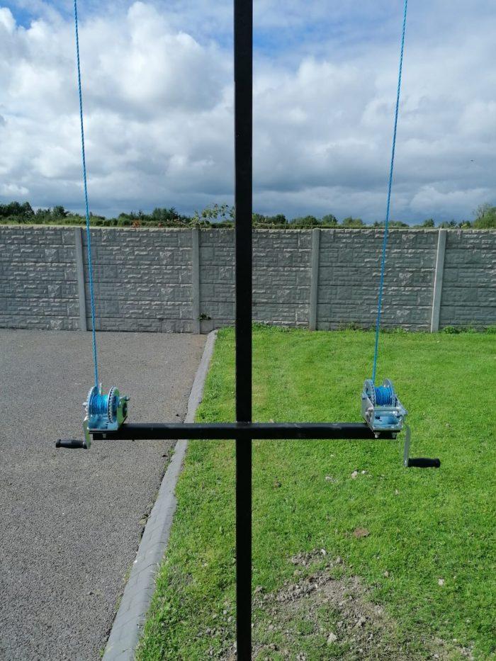 Steel Clothes Line Poles - Deluxe